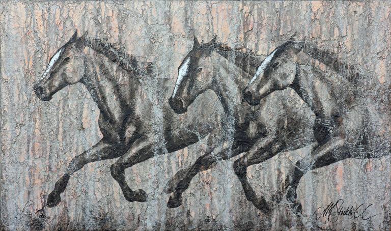 AM Stockhill, Stone Visions, Rockwall Series, mixed media, 59x35