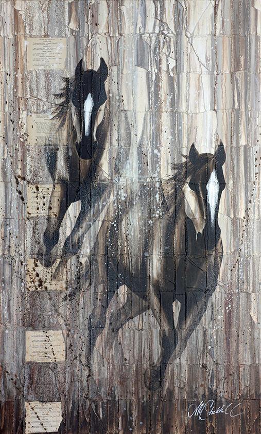 AM Stockhill, Blaze, Woven Series, mixed media, 36x60
