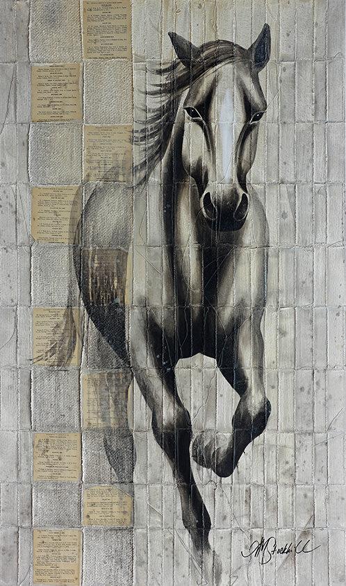 AM Stockhill, Rustler, Woven Series, mixed media, 35x59