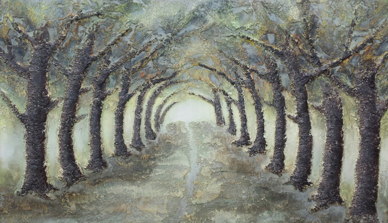 AM Stockhill, The Path, Earth Landscape Series, mixed media, 42x24