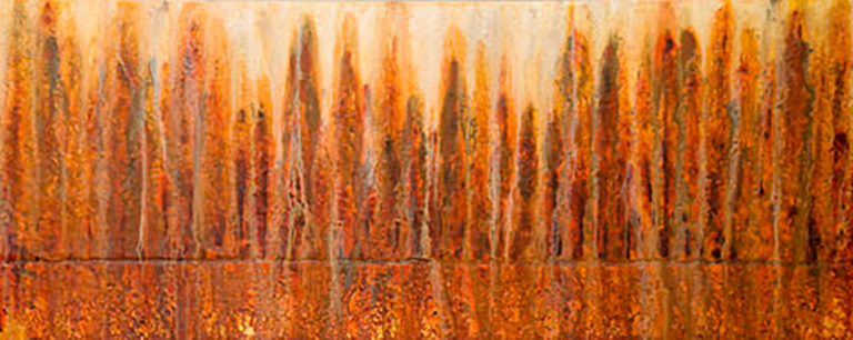 AM Stockhill, Smoke Through the Trees, Earth Landscape Series, mixed media