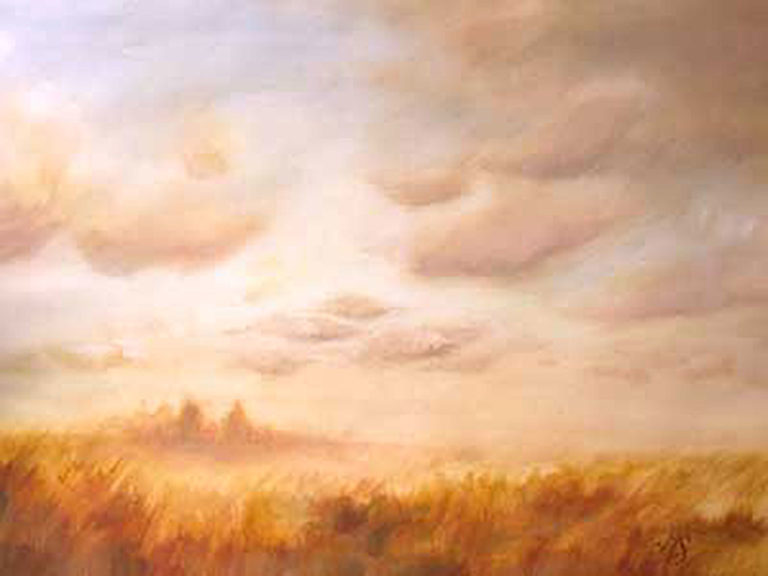 AM Stockhill, Wheatfield, watercolor