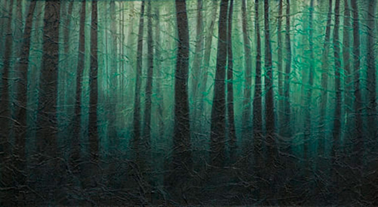 AM Stockhill, Winter Forest, Earth Landscape Series, mixed media