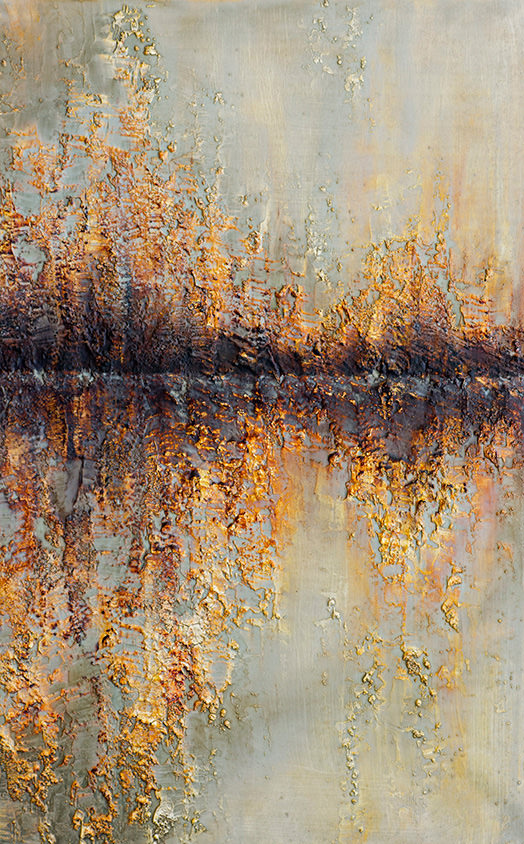 AM Stockhill, Silent Echo, Earth Landscape Series, mixed media, 30x48