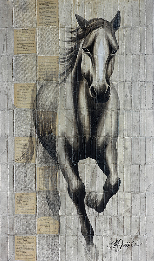 AM Stockhill, Rustler, Woven Series, mixed media, 35x59
