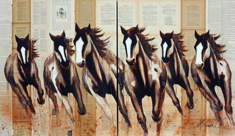 AM Stockhill, Afternoon Shadows, Book Series, mixed media, 60x35 diptych