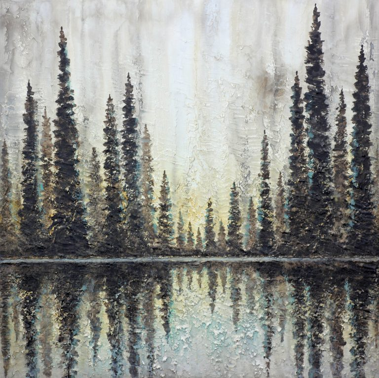AM Stockhill, Aflood with Sunlight, Earth Landscape Series, mixed media, 36x36