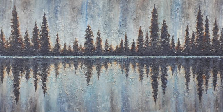 AM Stockhill, Reflections of Twilight, Earth Landscape Series, mixed media, 59x30
