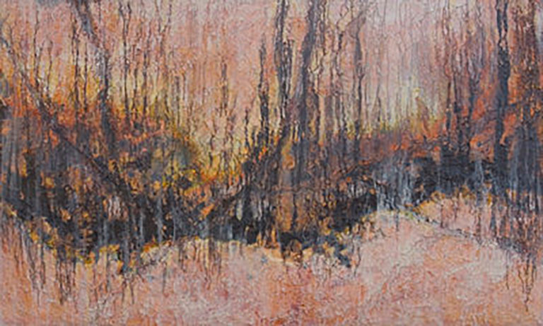 AM Stockhill, After the Burn, Earth Landscape Series, mixed media