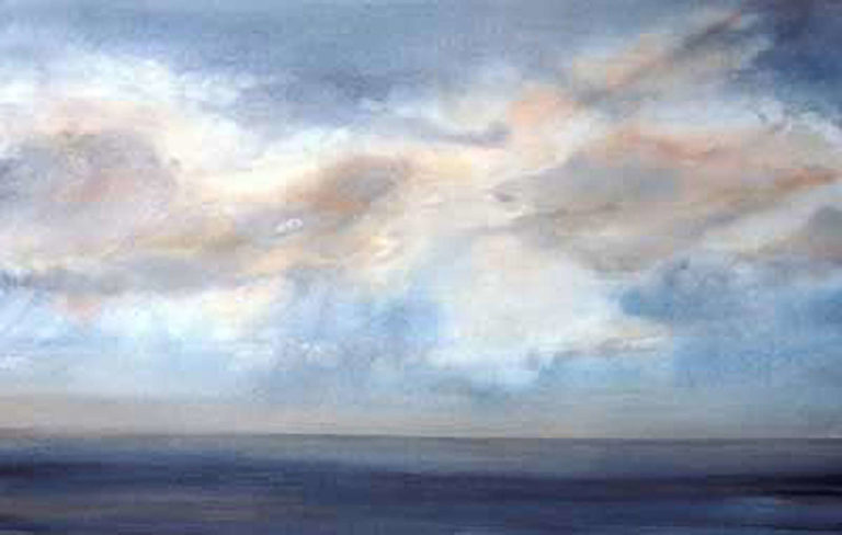 AM Stockhill, Seascape, watercolor