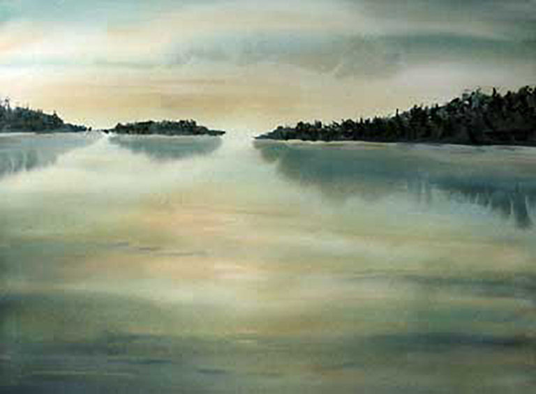 AM Stockhill, The Narrows, watercolor