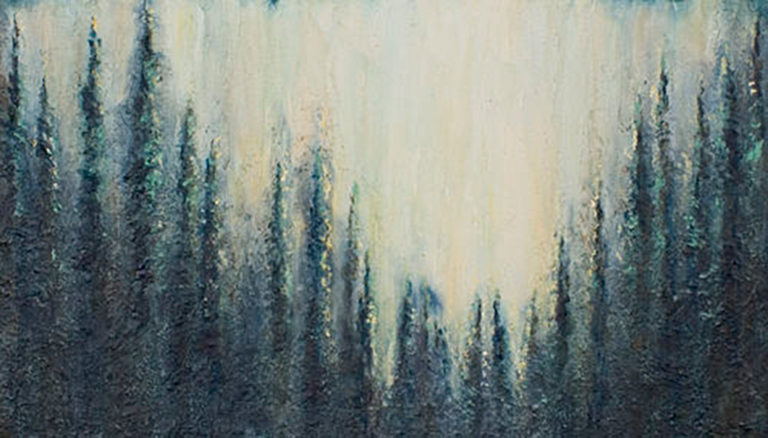 AM Stockhill, Winter Fire, Earth Landscape Series, mixed media