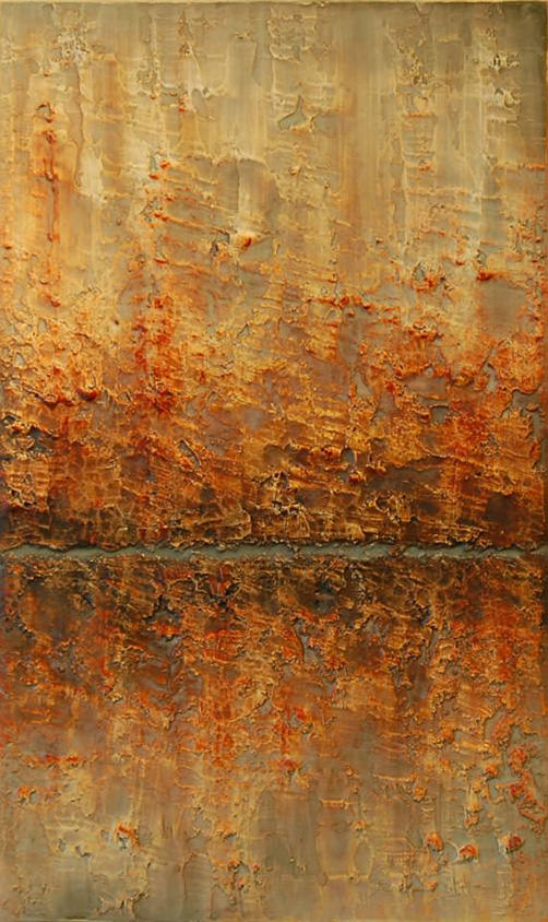 AM Stockhill, Hushed Resonance, Earth Landscape Series, mixed media, 18x30