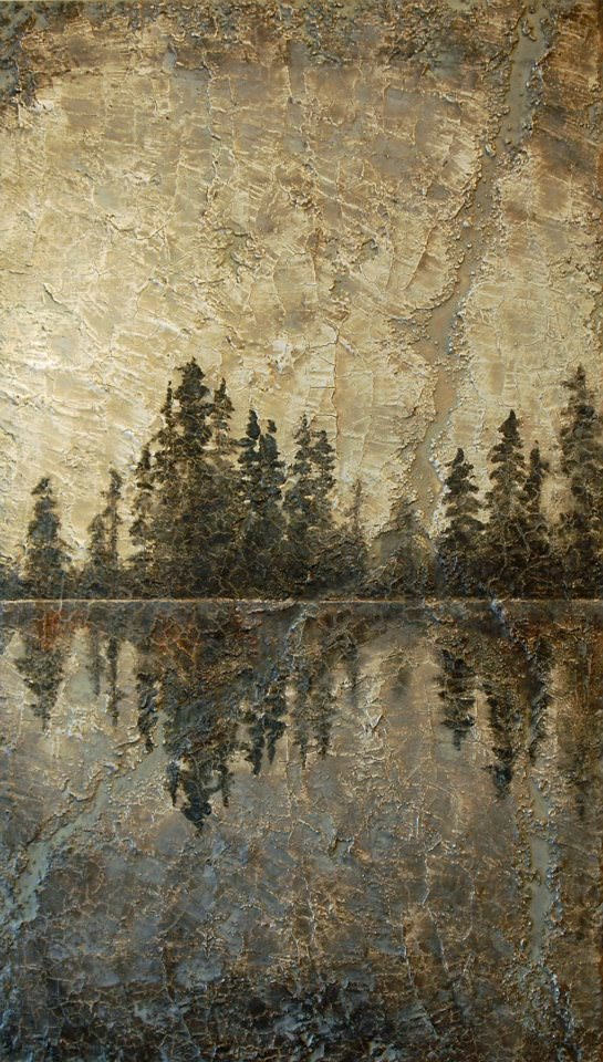 AM Stockhill, Untouched Solitude, Earth Landscape Series, mixed media, 24x42